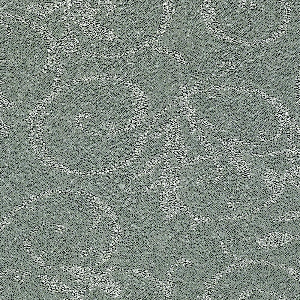 Lifeproof Carpet Sample Swirling Vines Color Winter