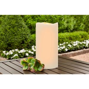 4.5 in. x 9 in. Remote Ready Battery Operated Outdoor Patio Resin LED Candle