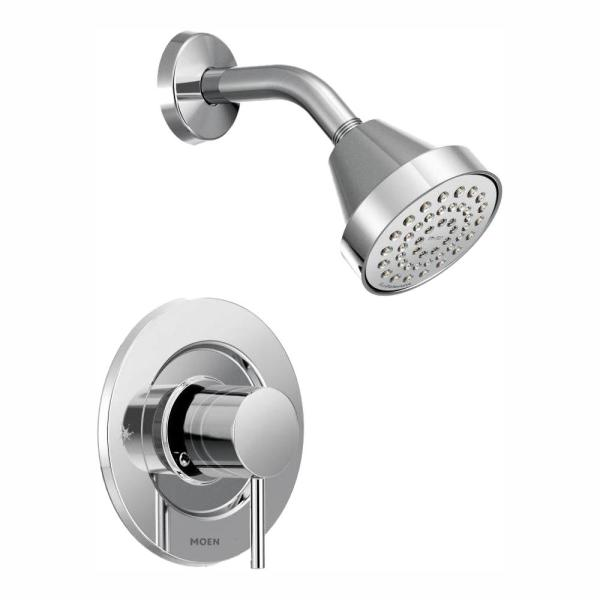 Align Single-Handle Posi-Temp Eco-Performance Shower Faucet Trim Kit in Chrome (Valve Not Included)