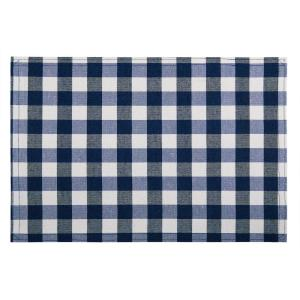 Buffalo Check 18 in. x 12 in. Blues Navy Checkered Cotton/Polyester Placemats (Set of 4)