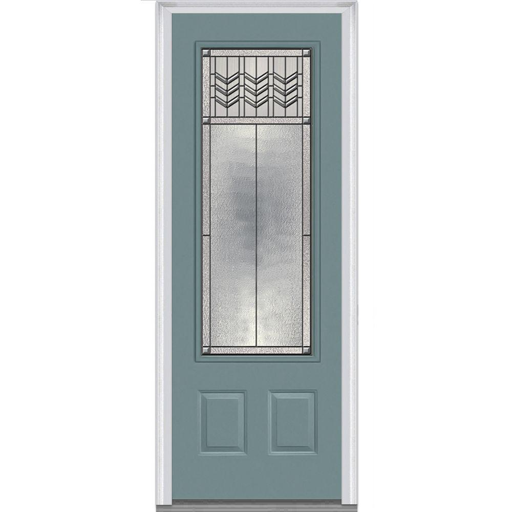 Customer Questions \u0026 Answers  sc 1 st  Home Depot & MMI Door 36 in. x 96 in. Prairie Bevel Right-Hand 3/4 Lite 2-Panel ...