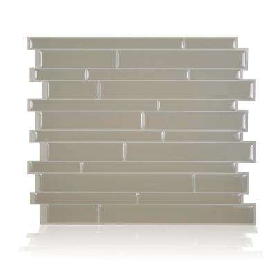 Milano Taupe 11.55 in. W x 9.63 in. H Beige Peel and Stick Self-Adhesive Decorative Mosaic Wall Tile Backsplash (6-Pack)