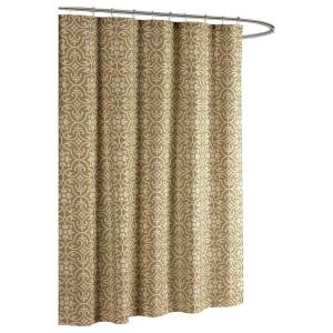 Creative Home Ideas Allure Printed Cotton Blend 72 inch W x 72 inch L Soft Fabric Shower... by Creative Home Ideas