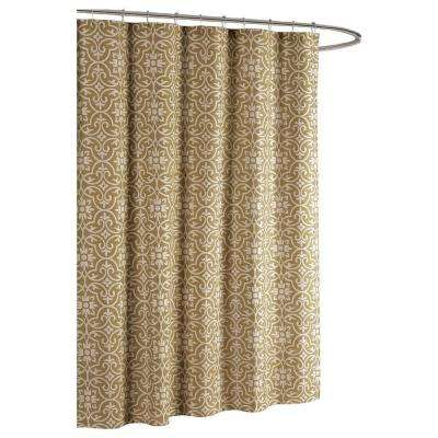 Allure Printed Cotton Blend 72 in. W x 72 in. L Soft Fabric Shower