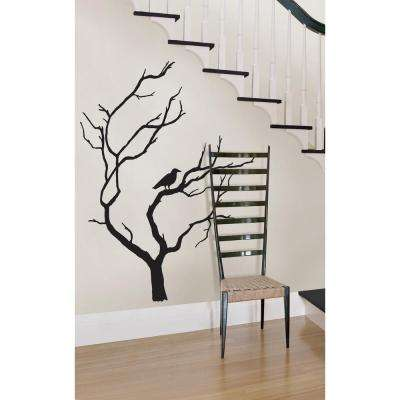 39 in. x 34.5 in. Spooky Tree Large Wall Art Kit