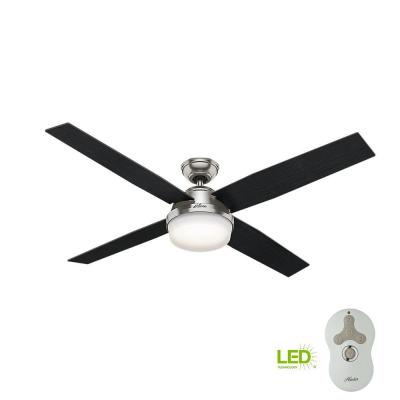 brushed nickel hunter ceiling fans with lights 59441 64_400 hunter contempo 52 in indoor brushed nickel ceiling fan with