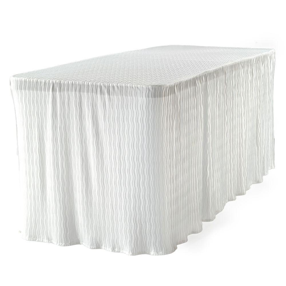 Lovely The Folding Table Cloth 6 Ft. White Table Cloth Made For Folding Tables