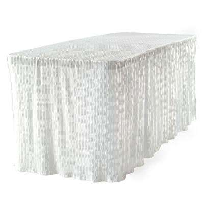 6 ft. White Table Cloth Made for Folding Tables