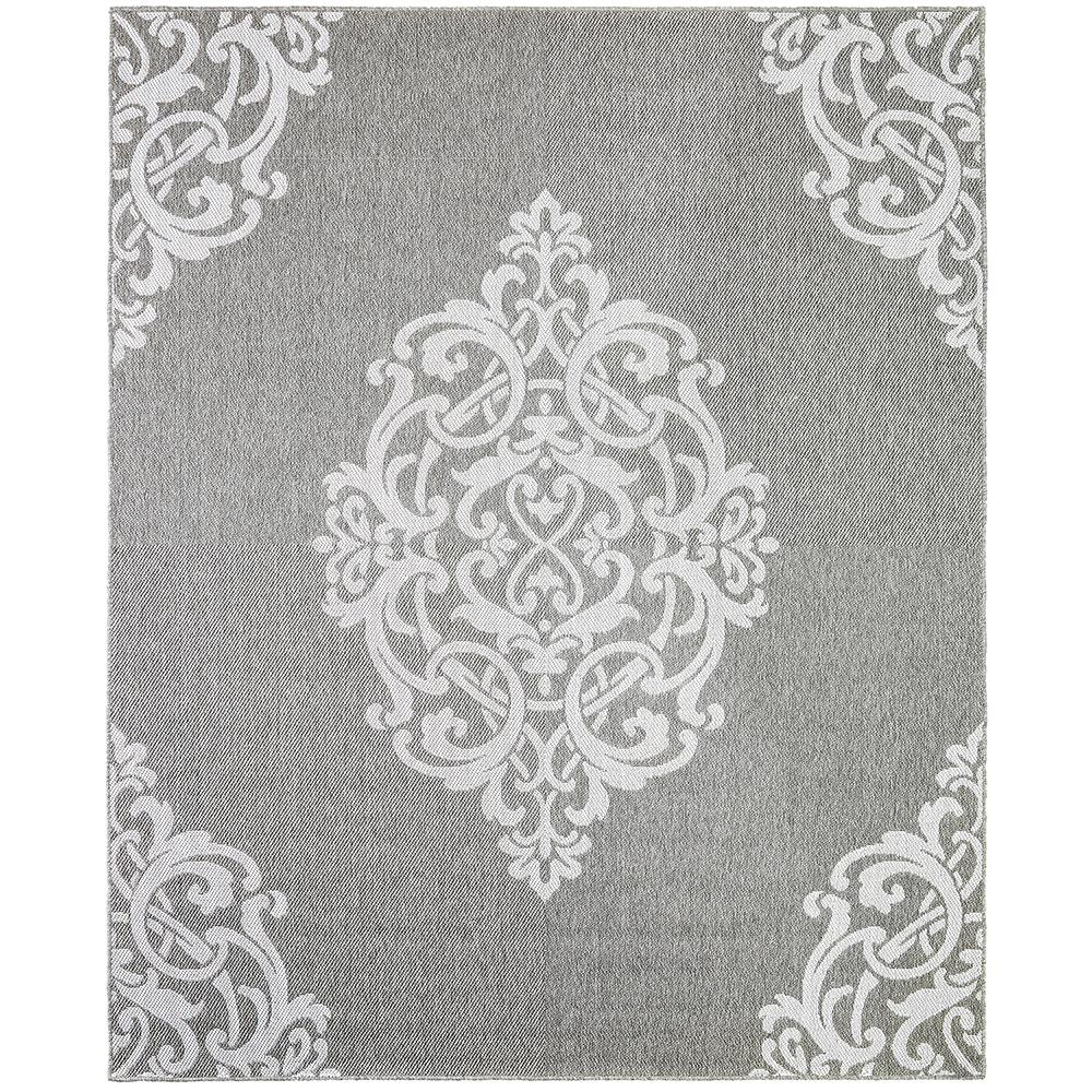 Paloma Silver 9 ft. x 12 ft. Area Rug