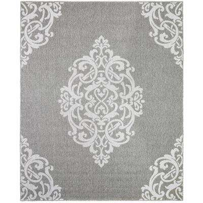 Paloma Silver 9 ft. x 12 ft.Indoor  Area Rug