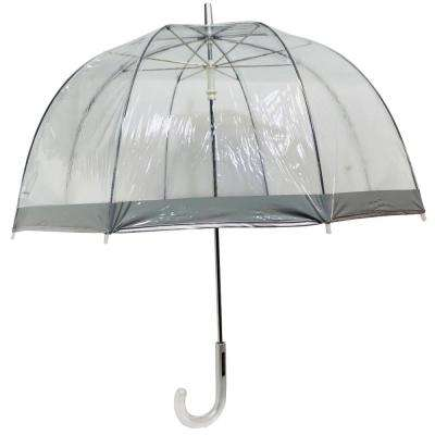 52 in. Silver Arc Clear Umbrella