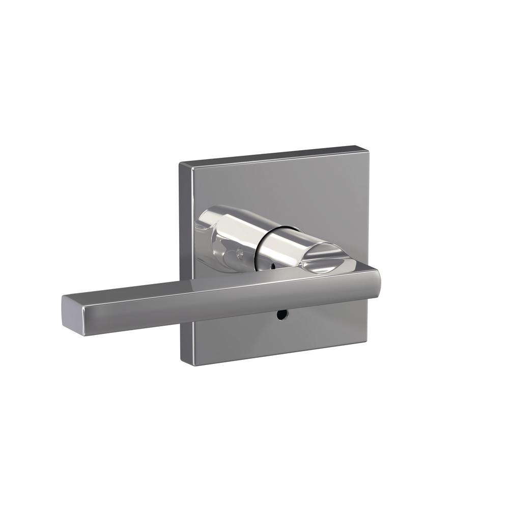 Schlage Custom Latitude Bright Chrome Collins Trim