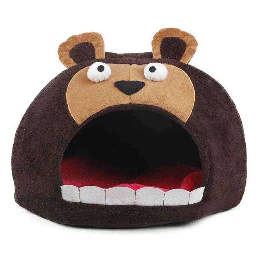 Petlife One-Size Dark Brown Roar Bear Snuggle Plush Polar...