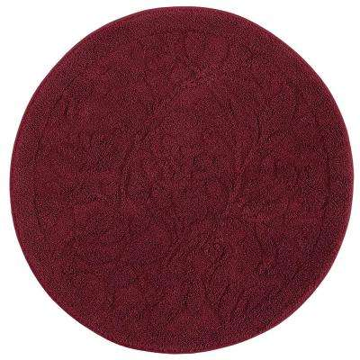Foliage Cabernet 3 ft. x 3 ft. Round Accent Rug