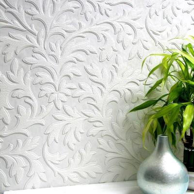 High Leaf Paintable Textured Vinyl Strippable Wallpaper (Covers 57.5 sq. ft.)