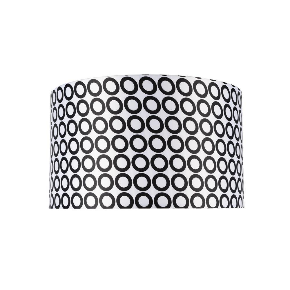 1c65974e77b8 Aspen Creative Corporation 17 in. x 10 in. Black and White and Geometric  Print