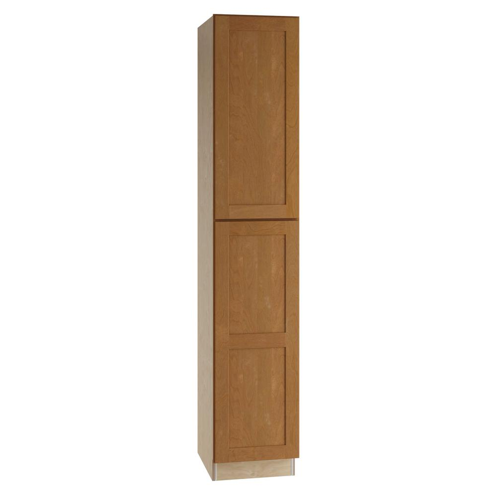 Assembled Pantry Utility Single Door Hinge Right Utilty Kitchen Cabinet Cinnamon 62636 Product Image