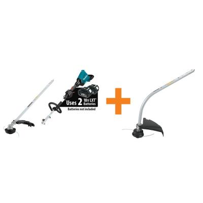 18-Volt X2 (36-Volt) LXT Couple Shaft Power Head (Tool-Only) with String Trimmer and Curved String Trimmer Attachment