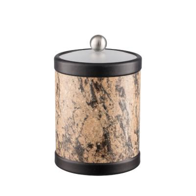 Quarry Russet Stone 2 Qt. Tall Ice Bucket with Bale Handle and Acrylic Lid