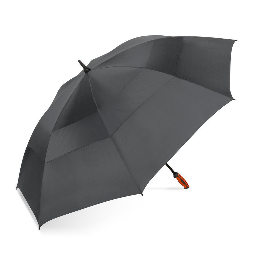 7f80318b68dd 58 Manual Golf Sport Stick Charcoal Polyester Vented Umbrella