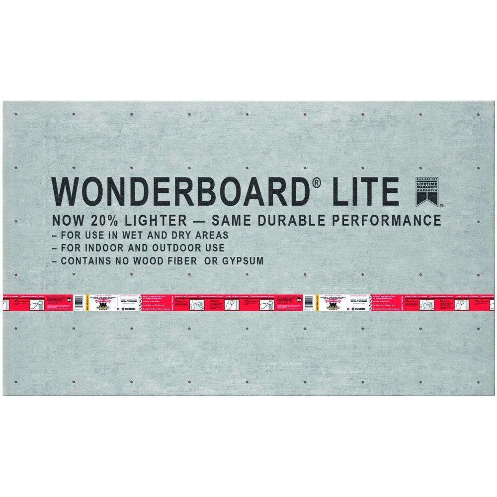 WonderBoard Lite 5 ft. x 3 ft. x 7/16 in. Backer Board