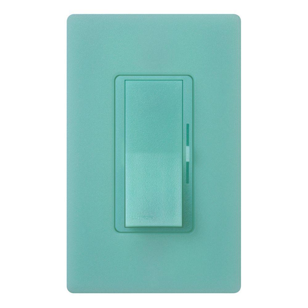 Lutron Diva 600-Watt Single-Pole Dimmer - Sea Glass