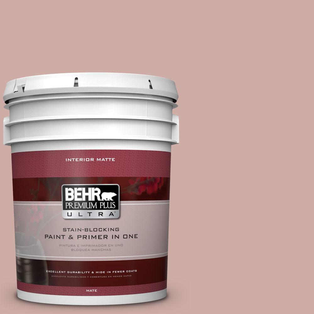 BEHR Premium Plus Ultra 5 gal. #190E-3 Velveteen Crush Flat/Matte Interior Paint