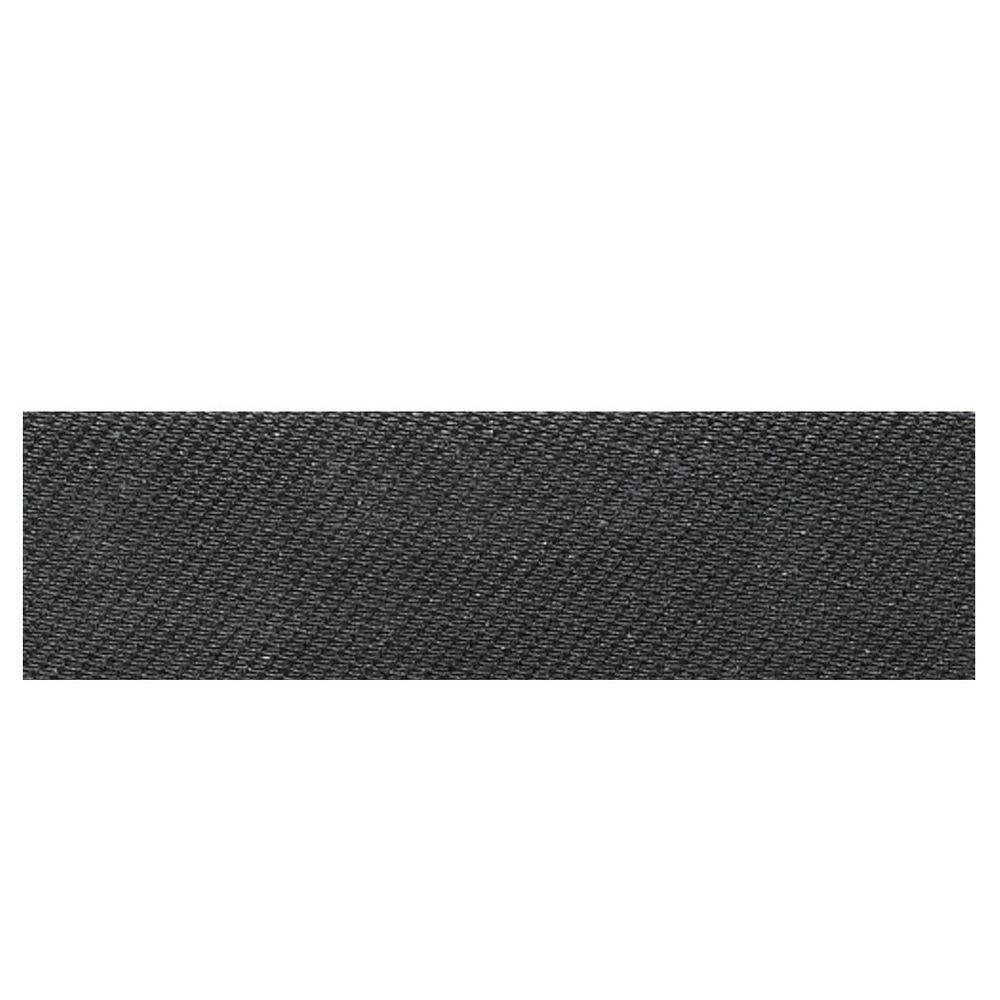Daltile Identity Twilight Black Fabric 4 in. x 12 in. Polished Porcelain Bullnose Floor and Wall Tile