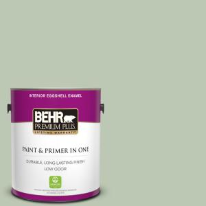 1 gal. #440E-3 Topiary Tint Eggshell Enamel Low Odor Interior Paint and Primer in One