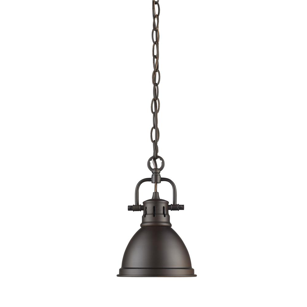 This Review Is From Duncan 1 Light Rubbed Bronze Mini Pendant With Shade Chain