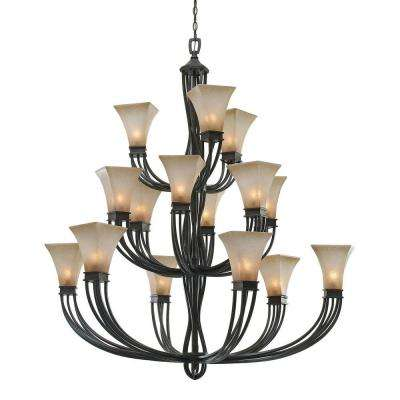 Darcy Collection 15-Light Roan Timber Chandelier