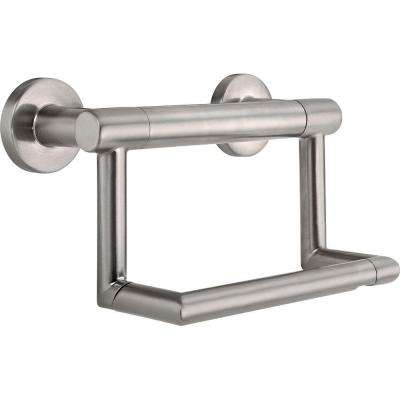 Decor Assist Contemporary Toilet Paper Holder with Assist Bar in Stainless