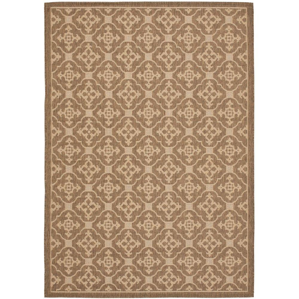 Outdoor Rug 7 X 10: Safavieh Courtyard Brown/Cream 7 Ft. X 10 Ft. Indoor