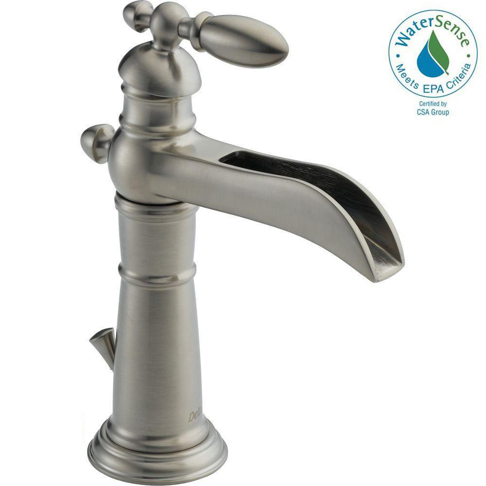 Delta Victorian Single Hole Single-Handle Open Channel Spout ...