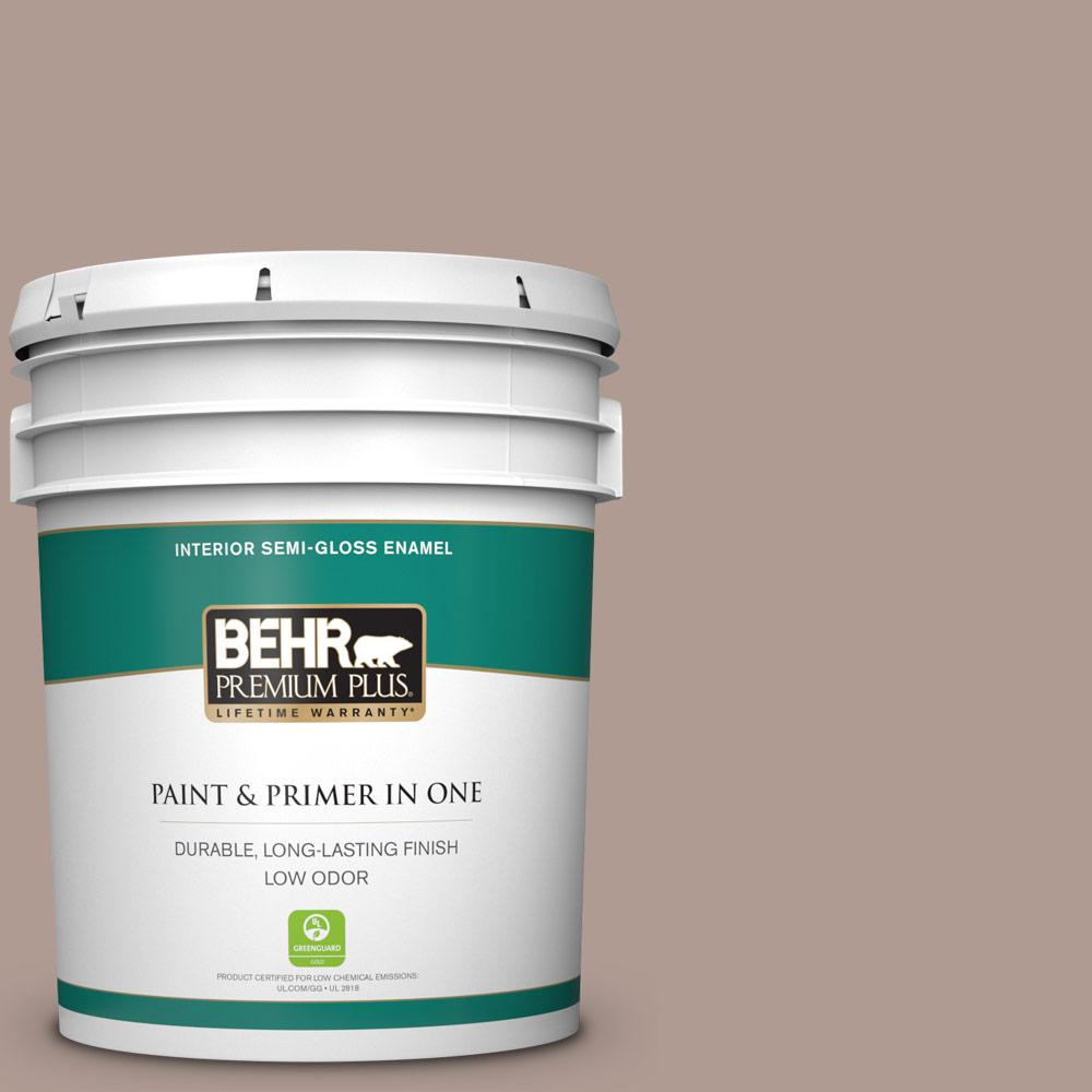 Reviews For Behr Premium Plus 5 Gal N170 4 Coffee With Cream Semi Gloss Enamel Low Odor Interior Paint And Primer In One 340005 The Home Depot