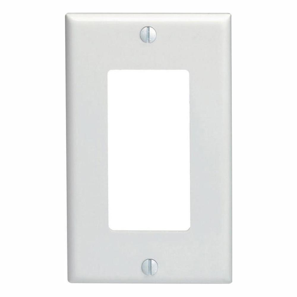 Leviton Decora 1-Gang Wall Plate, White (10-Pack)