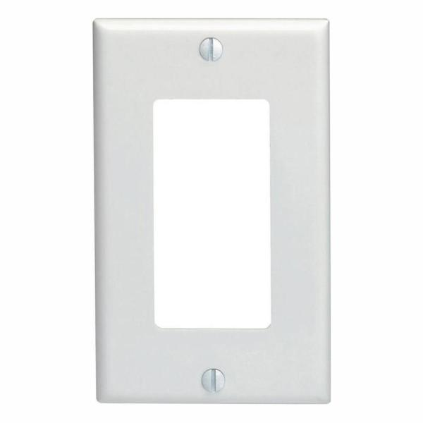 1-Gang White Decorator/Rocker Wall Plate (10-Pack)