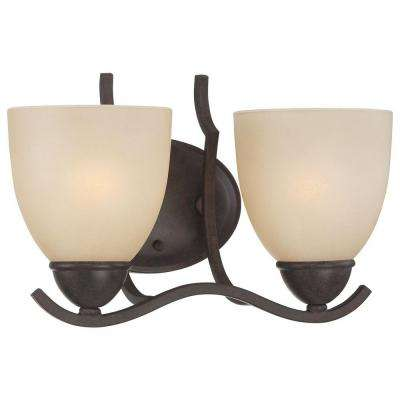 Triton 2-Light Sable Bronze Bath Fixture