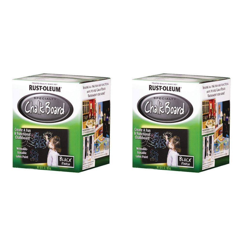 Rust-Oleum Specialty Specialty 1 Qt. Chalkboard Black Brush-On Paint (2-Pack)-DISCONTINUED