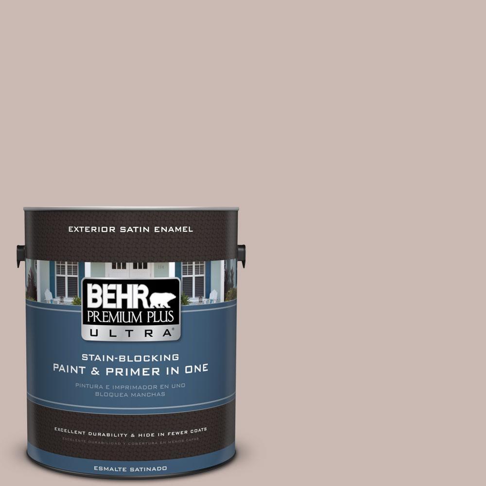BEHR Premium Plus Ultra 1-gal. #N170-3 Gray Ashlar Satin Enamel Exterior Paint