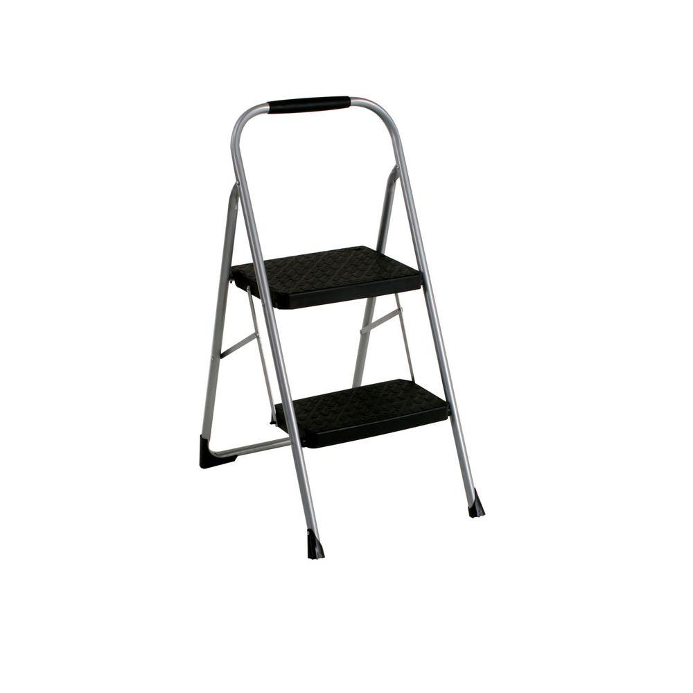 Cosco 2 Step Steel Big Step Stool Ladder With 200 Lbs