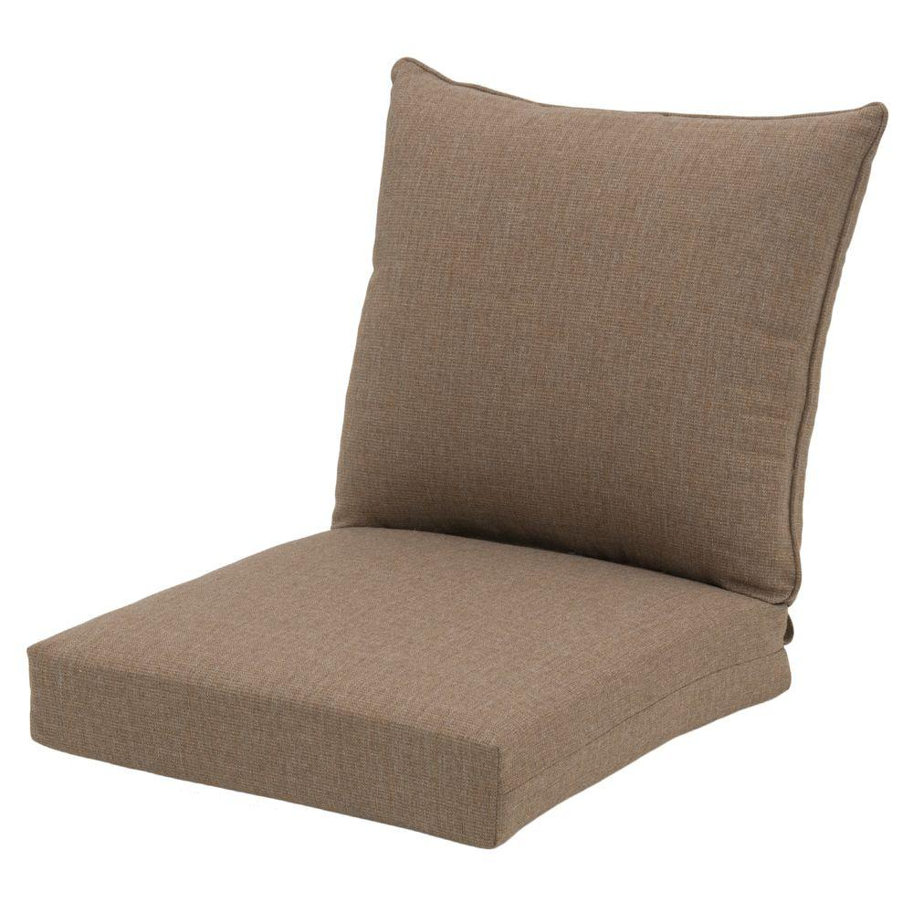 Merveilleux Hampton Bay 22 X 24 Outdoor Chair Cushion In Standard Saddle