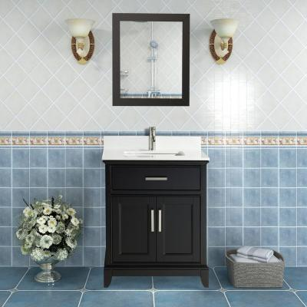 Bath Event Black 24 Inch Vanities Bathroom Vanities Bath The Home Depot