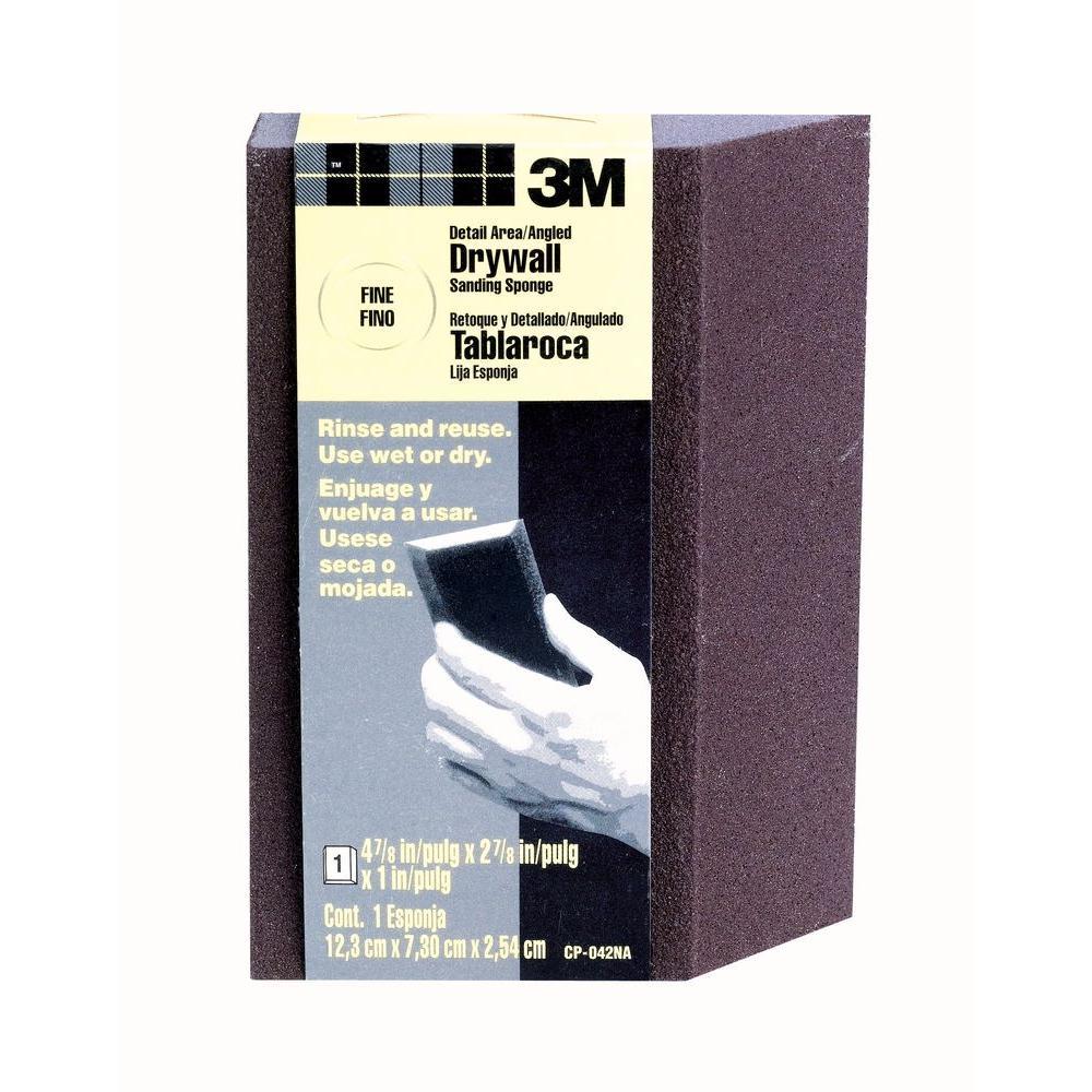 2.875 in. x 4.875 in. x 1 in. 120 Grit Fine Angled Drywall Sanding Sponge