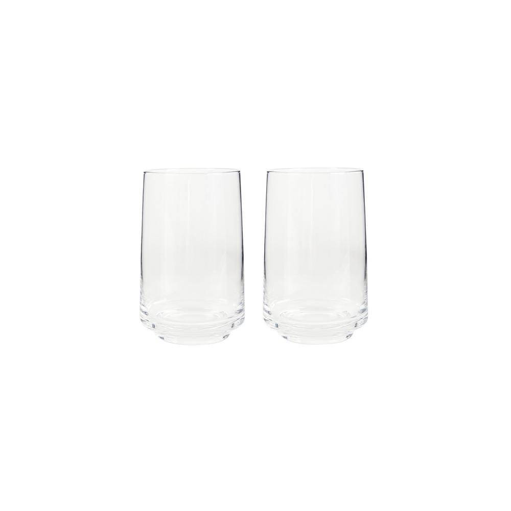 Natural Canvas 16.90 fl. oz. Clear Glass Tumblers (Set of 2)