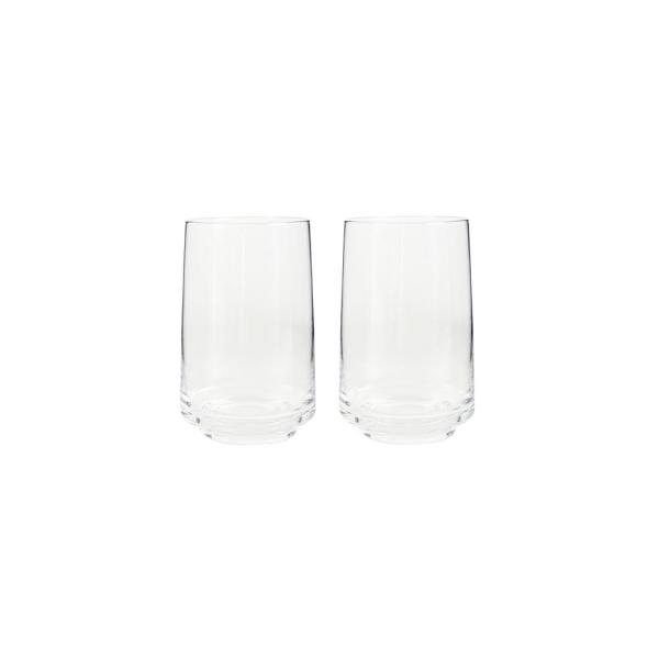 Natural Canvas 16.90 oz. Clear Glass Tumblers (Set of 2)