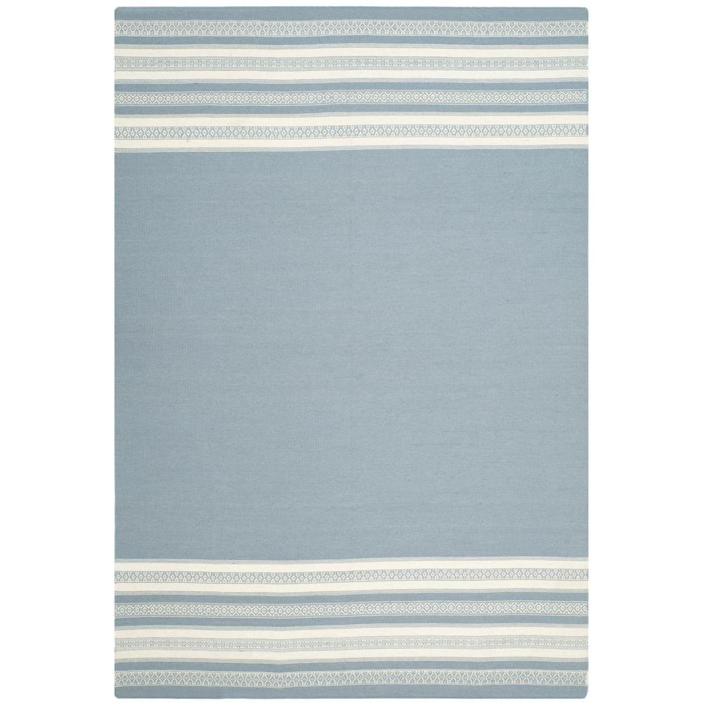 Safavieh Dhurries Grey 6 ft. x 9 ft. Area Rug