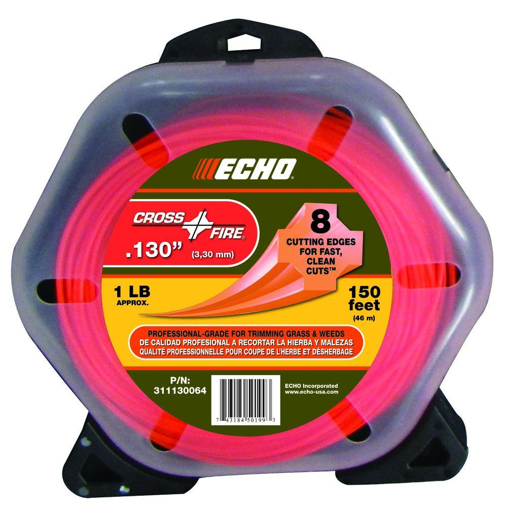 """ECHO .130"""" Cross-Fire Trimmer Line (150 ft.) Large Clam"""