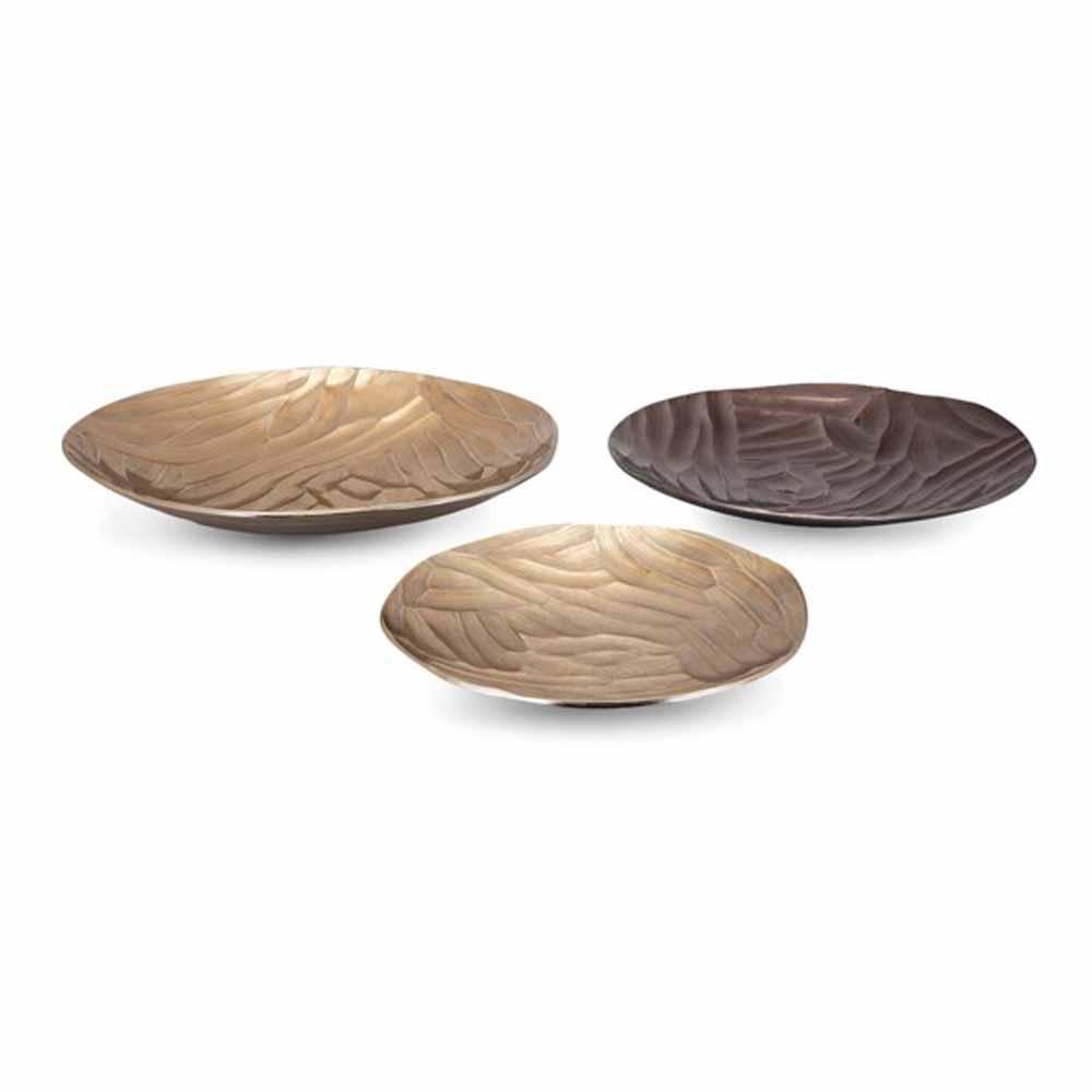 Maali Gold Decorative Trays (Set of 3)