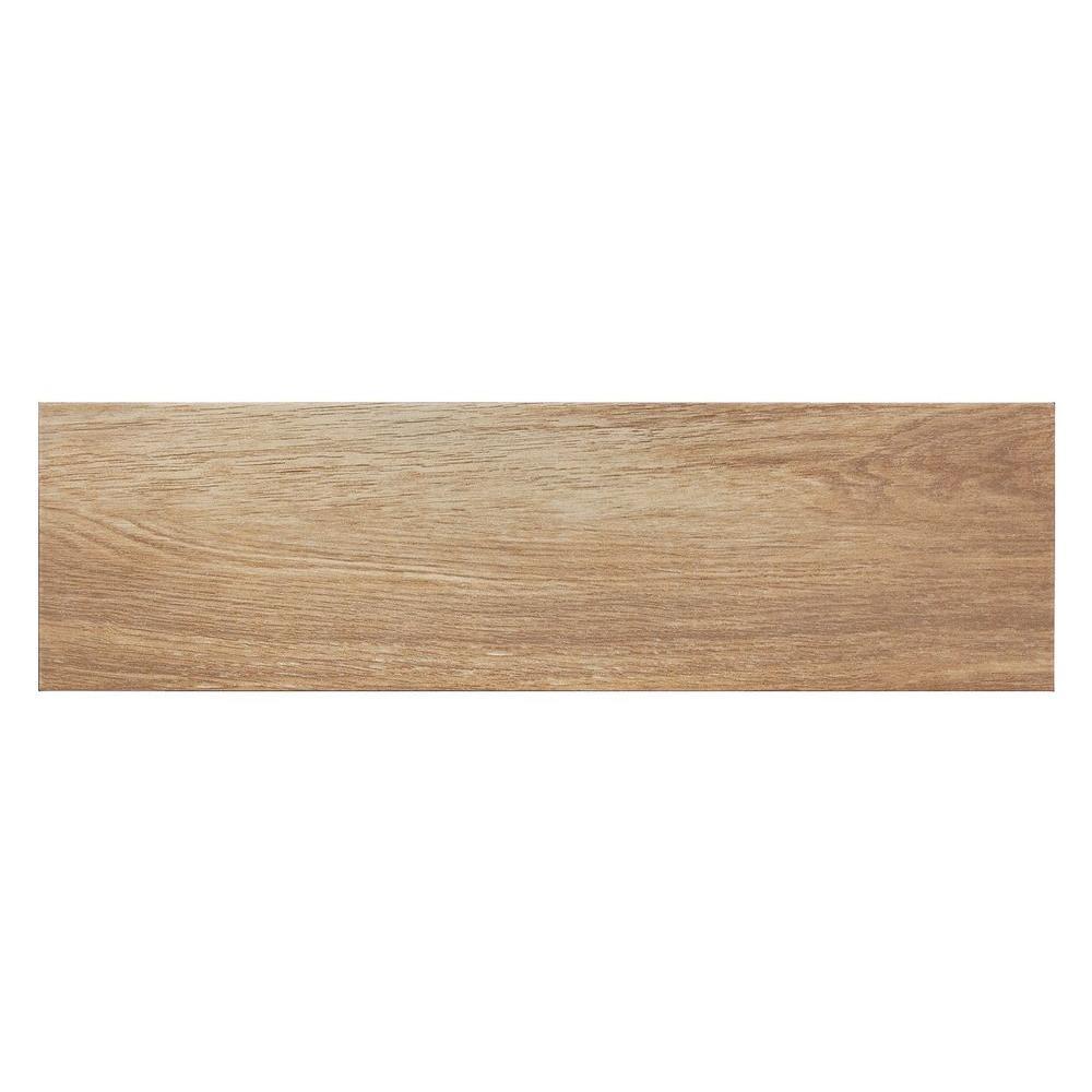Oak Brown 7 in. x 24 in. Porcelain Floor and Wall
